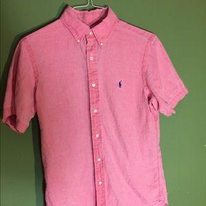 Ralph Lauren Men's Small linen short sleeve